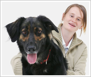Veronika mit Therapiehund
